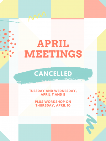 April Meetings Canceled image