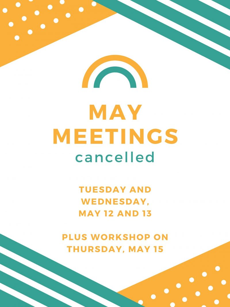 May Meetings Canceled image