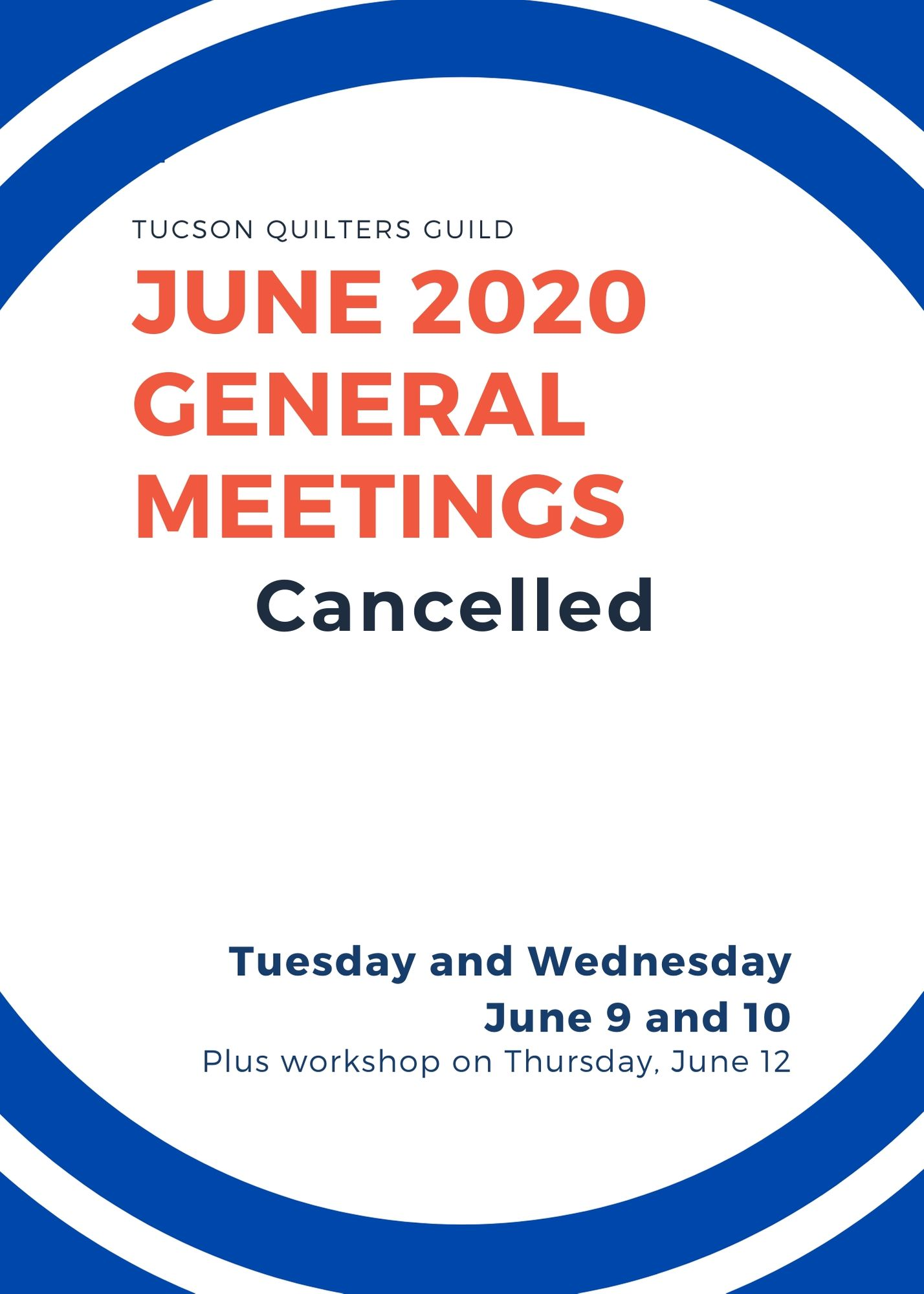 June meetings cancelled